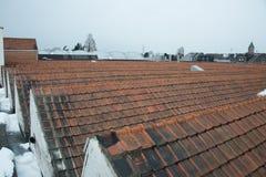 daken met puntgevel Stock Afbeelding
