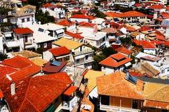 Daken in Parga, Griekenland Royalty-vrije Stock Fotografie