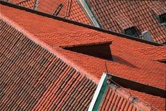 Daken in Praag Stock Afbeeldingen