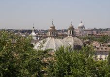 Daken in Rome, Italië royalty-vrije stock afbeeldingen