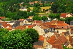 Daken in Sarlat, Frankrijk stock foto