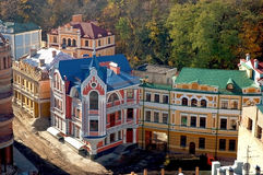 Daken van de huizen stock foto
