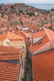 Daken van de Oude Stad van Dubrovnik stock afbeeldingen