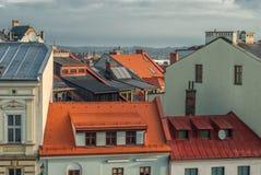 Daken van de stad Royalty-vrije Stock Afbeeldingen