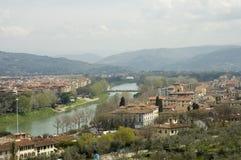Daken van de stad van Florence, Toscanië, Italië Stock Afbeeldingen
