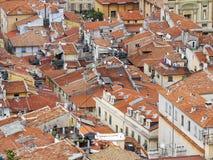 Daken van de stad van Nice Stock Foto's