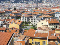 Daken van de stad van Nice Royalty-vrije Stock Fotografie