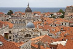 Daken van Dubrovnik royalty-vrije stock foto