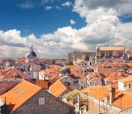 Daken van Dubrovnik Stock Afbeeldingen