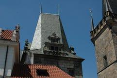 daken van gebouwen in de Tsjechische Republiek Royalty-vrije Stock Afbeelding