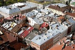 Daken van huizen Stock Afbeeldingen