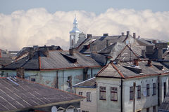 Daken van huizen Stock Afbeelding
