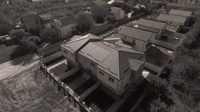 Daken van huizen van hommel, luchtmening worden gezien die stock afbeeldingen