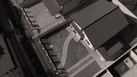 Daken van huizen van hommel, luchtmening worden gezien die royalty-vrije stock foto's
