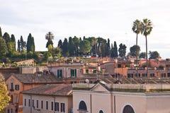 Daken van huizen in Rome, Italië Royalty-vrije Stock Fotografie