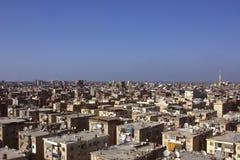 Daken van krottenwijkhuisvesting in Damietta, Egypte Royalty-vrije Stock Afbeeldingen