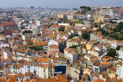 Daken van Lissabon Stock Foto
