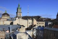 Daken van Lviv royalty-vrije stock foto's