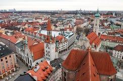 Daken van München Stock Afbeeldingen