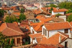 Daken van oud Ankara Royalty-vrije Stock Afbeeldingen