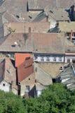 Daken van oude gebouwen in Petrovaradin Stock Foto's