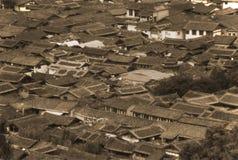 Daken van oude huizen in oude Lijiang, China, Yunnan Royalty-vrije Stock Afbeeldingen