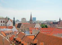 Daken van oude stad, Bratislava, Slowakije Royalty-vrije Stock Afbeeldingen