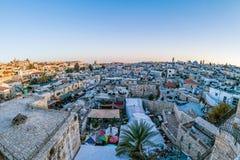 Daken van Oude Stad Jeruzalem, Israël Stock Afbeelding