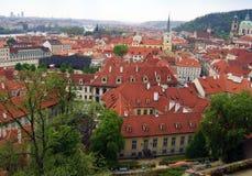 Daken van Praag Royalty-vrije Stock Afbeeldingen