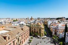 Daken van Sevilla in Spanje op een zonnige dag Royalty-vrije Stock Foto's