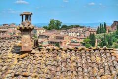 Daken van Siena stock afbeelding