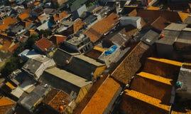 Daken van traditionele Aziatische huizen Stock Foto's