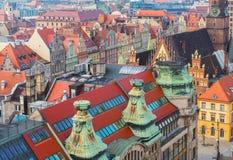 Daken van Wroclaw stock afbeelding