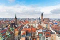 Daken van Wroclaw royalty-vrije stock fotografie
