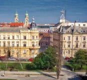 Daken in Zagreb stock afbeelding