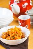 Dakgalbi coréen de poulet photographie stock libre de droits
