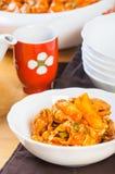Dakgalbi coreano da galinha Imagem de Stock