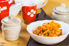Dakgalbi coreano da galinha Imagens de Stock Royalty Free