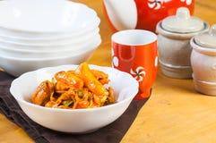 Dakgalbi coreano da galinha Imagens de Stock