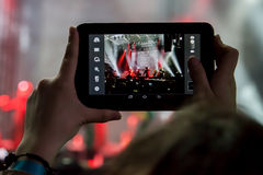 Dakh Daughters concert in Sentrum, Kiev, 23.04.201 Royalty Free Stock Image