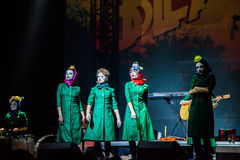Dakh Daughters concert in Sentrum, Kiev, 23.04.2014 Stock Images