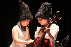 DakhaBrakha au concert solo au théâtre Photo libre de droits