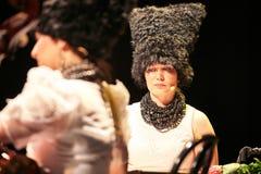 DakhaBrakha au concert solo au théâtre Photo stock