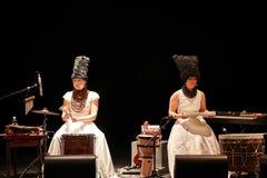 DakhaBrakha au concert solo au théâtre Images libres de droits