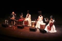 DakhaBrakha at solo concert at theater Royalty Free Stock Photos