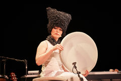 DakhaBrakha at solo concert at theater Stock Image