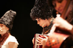 DakhaBrakha at solo concert at theater Royalty Free Stock Photo