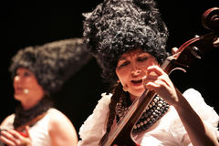 DakhaBrakha at solo concert at theater Royalty Free Stock Photography