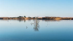 Dakhla Oasis, Egypt. Lake in the Dakhla Oasis, Western Desert, Egypt stock photography