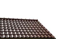 Dakhuis met betegeld dak Stock Foto